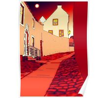 Dysart: Scottish Town digital drawing Poster