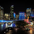 Circular Quay under lights by Michael Clarke