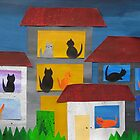 Cats in Flats- from recycled Math Books- Children's rhymes by cathyjacobs