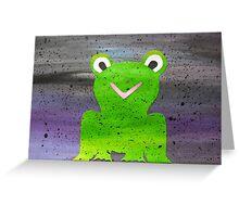 Frog in Fog Greeting Card
