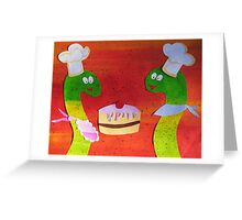 Snakes that Bake Greeting Card