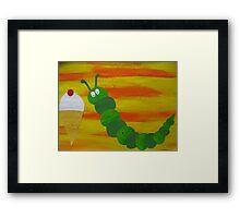 Caterpillar tries vanilla-  Framed Print