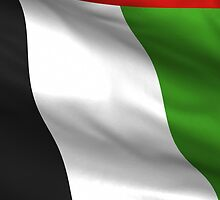 Waving UAE Flag iPhone 4 Case by AussieAck