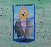 Galah in a Jar - Animal Rhymes - created from recycled math books by cathyjacobs