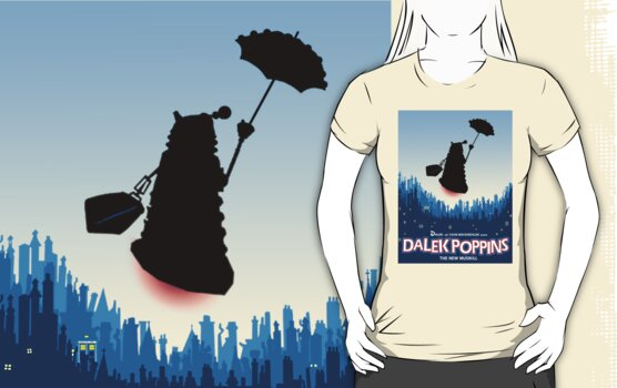Dalek Poppins T-Shirt by ToneCartoons