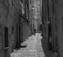A backstreet in Alghero Sardinia. by naranzaria