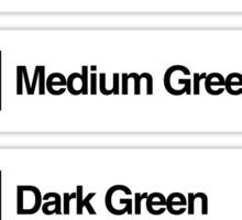 Brick Sorting Labels: Olive Green, Bright Green, Medium Green, Dark Green, Sand Green Sticker