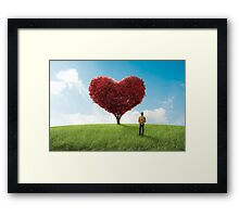 The man betrays the nature Framed Print