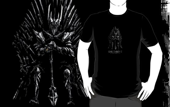 Sauron on the Iron Throne by Uheq
