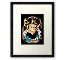 Portrait of a Marshmallow Framed Print