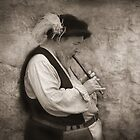Medievel Flutist by Pat Abbott