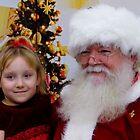 Santa And A Happy Child by WildestArt