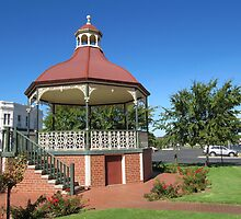 Charming Old Rotunda! Center Plantation garden 'Nhill,' Victoria. Aus. by Rita Blom