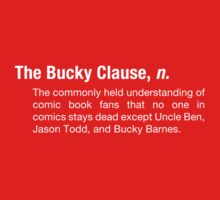 The Bucky Clause (dark shirts) by WhatJaneSays