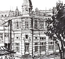 Ink Graphics of an Old Building in Bulgaria by kirilart