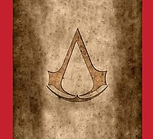 Assassin's Creed symbol on old ass paper by jeffcrazy