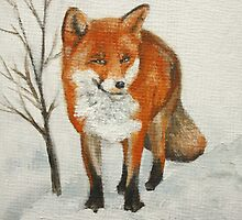 Winter Fox by Lynne  M Kirby BA(Hons)