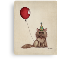 Kitty Celebration Canvas Print