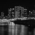 Brisbane and the river at night. by Nick Egglington