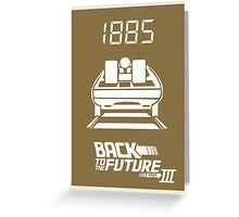 pbbyc - Back to the Future Pt 3 Greeting Card