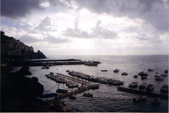 AMALFI COAST - during the storm... by Marilyn Grimble