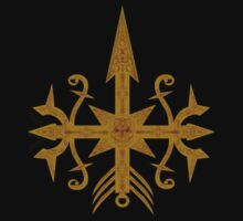Golden Arrow-skull Tribal T-shirt by CMProductions