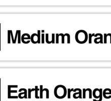 Brick Sorting Labels: Very Light Orange, Bright Light Orange, Medium Orange, Earth Orange, Dark Orange Sticker