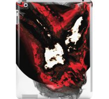 Red and white phoenix flying away from blackhole iPad Case/Skin