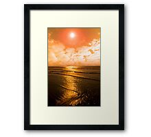 sunset over the sea in Ireland Framed Print