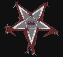 Bloody Pentagram 666 T-shirt by CMProductions