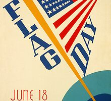 Reprint of the 1939 Flag Day Poster by Chris L Smith