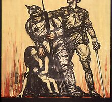 Reprint of a WWI Propaganda Poster by Chris L Smith