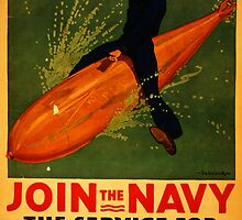 Reprint of a WW2 US Navy Recruiting Poster  by chris-csfotobiz