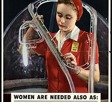 Reprint of a WW2 US Female Recruiting Poster  by Chris L Smith