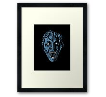 Scary Weeping Angel Framed Print