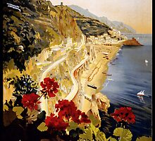 Vintage Italian Travel Poster by Chris L Smith