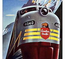 Vintage Canadian Pacific Railroad Poster by Chris L Smith