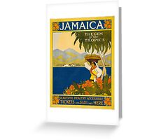 Vintage Travel Poster to Jamaica Greeting Card