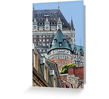 Fairmont Le Chateau Frontenac Greeting Card