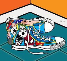 comics shoes by mark ashkenazi