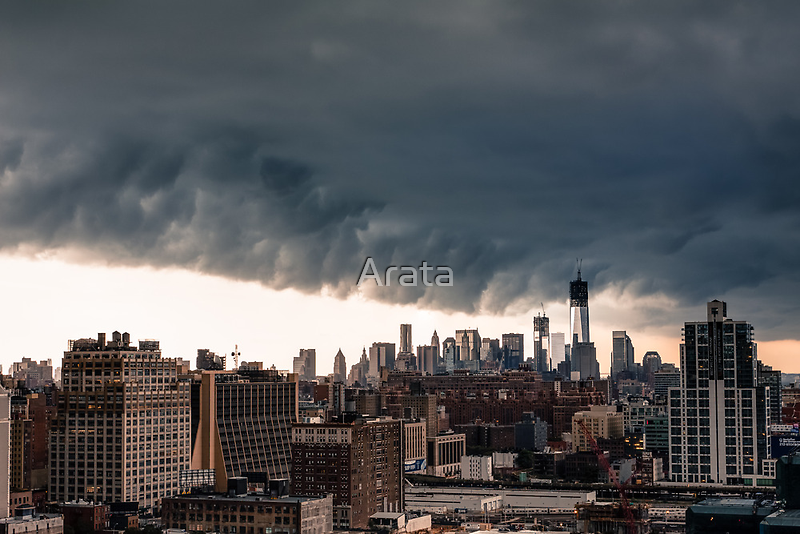 New York City Under Stormy Sky by Arata
