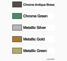 Brick Sorting Labels: Chrome Antique Brass, Chrome Green, Metallic Silver, Metallic Gold, Metallic Green by 9thDesignRgmt