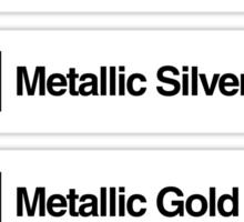 Brick Sorting Labels: Chrome Antique Brass, Chrome Green, Metallic Silver, Metallic Gold, Metallic Green Sticker
