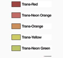 Brick Sorting Labels: Trans-Red, Trans-Neon Orange, Trans-Orange, Trans-Yellow, Trans-Neon Green by 9thDesignRgmt