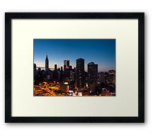 Sunrise in New York City Framed Print
