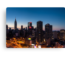 Sunrise in New York City Canvas Print