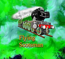Flying Scotsman with Blinkers iPhone/iPad by Dennis Melling
