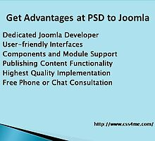 Advantages of PSD to Joomla: A Wholesome Package to develop Potent Websites. by css4me111