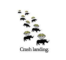 Crash Landing Photographic Print