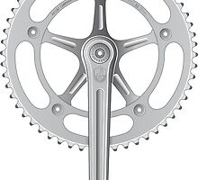 Campagnolo Track Chainset, 1974 (optimised for prints) by BonkersStyle